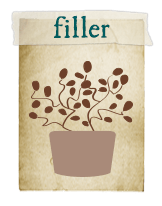 FIller - Designed to cover bare spots and the base of the Thriller and to mound or billow in its own container.